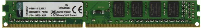 4GB DDR3 1600MHz CL11 DIMM (KVR16N11S8/4)