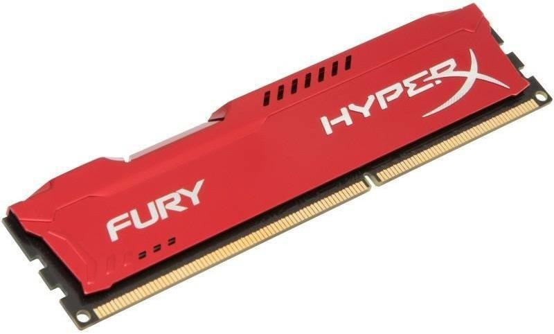 HyperX Fury Red 4GB DDR3 1600MHz CL10 DIMM (HX316C10FR/4)