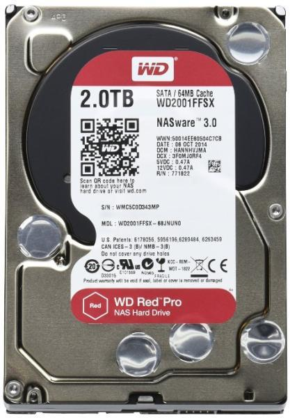 Red Pro (NAS) - 2TB 7200rpm DATA3 64MB 3.5""