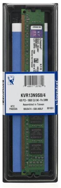 4GB DDR3 1333MHz CL9 DIMM (KVR13N9S8/4)